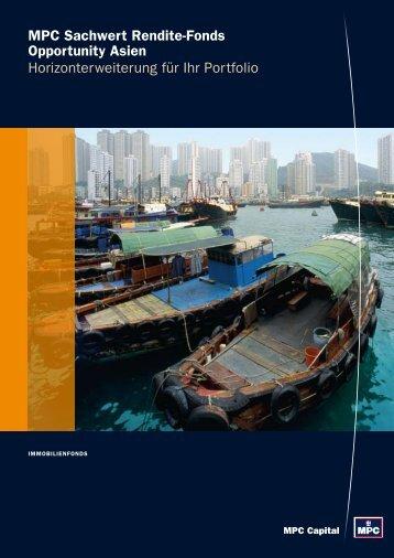 MPC Sachwert Rendite-Fonds Opportunity Asien ...