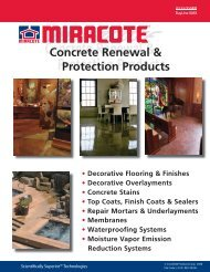 Concrete Renewal & Protection Products