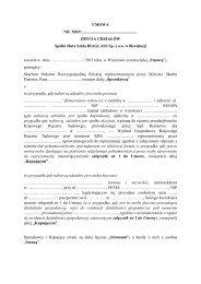 Treść umowy zbycia udziałów spółki Huta Szkła BIAGLASS Sp. z ...