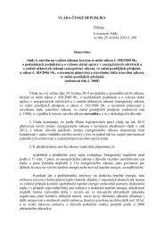 VLÁDA ČESKÉ REPUBLIKY Příloha k usnesení vlády ze dne 29 ...