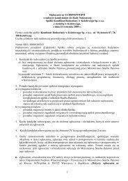 ogłoszenie z dnia 21 kwietnia 2009 r. - Ministerstwo Skarbu Państwa