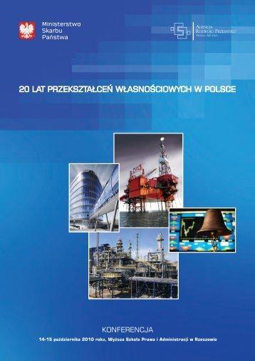 20 lat przekształceń własnościowych w polsce - Serwis dla Inwestorów