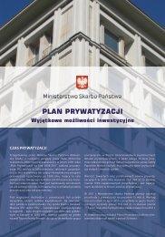 Folder informacyjny - Ministerstwo Skarbu Państwa