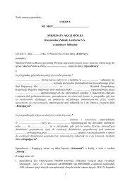 umowa - Rzeszowskie Zakłady Graficzne S.A. z siedzibą w Miłocinie
