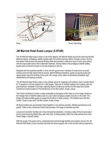 JW Marriott Hotel Kuala Lumpur (5 STAR) - Belantara Holidays