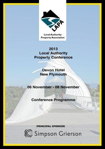 2013 Conference Programme - LAPA