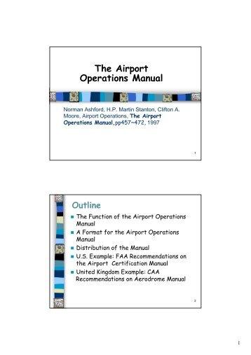 oban aerodrome manual part 4 airport operating instructions rh yumpu com
