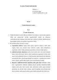 VLÁDA ČESKÉ REPUBLIKY Příloha č. 1 k usnesení vlády ze dne 10 ...