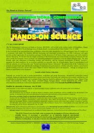 Provisional program and last call - hands-on science network