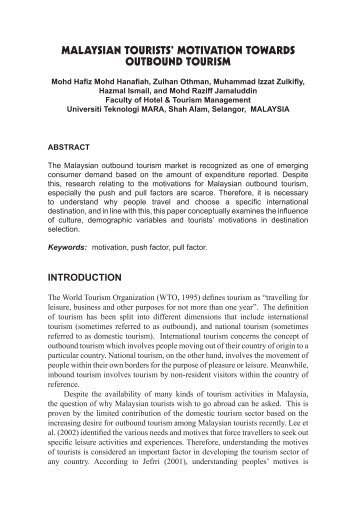 analysis of motivations for rural tourism Models for the statistical analysis of trends in rural tourism activity in romania  the simple way of life, is a motivation for all age groups, sex, socio-professional, representing the result of the tendency of conservation, health,  units of rural tourism, due to the process of sustainable development which joins and this type of.