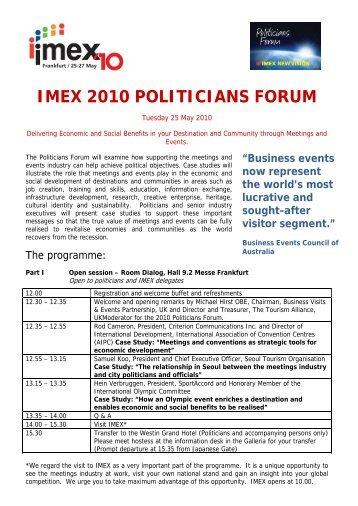 IMEX2010_Politicians.. - Kongres Magazine