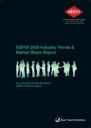 EIBTM 2008 Industry Trends & Market Share Report - HCB