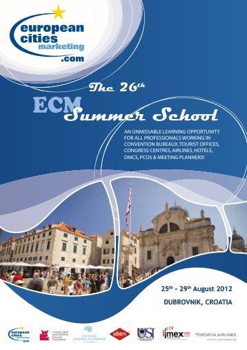 Final_Programme-Summer School 2012 - Kongres Magazine