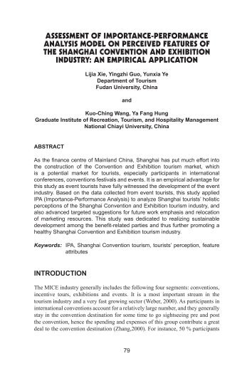assessment of importance-performance analysis model on ... - JTHCA