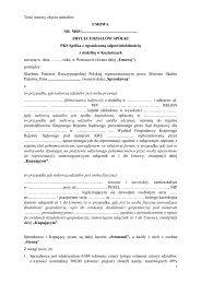 Treść umowy zbycia udziałów - Ministerstwo Skarbu Państwa