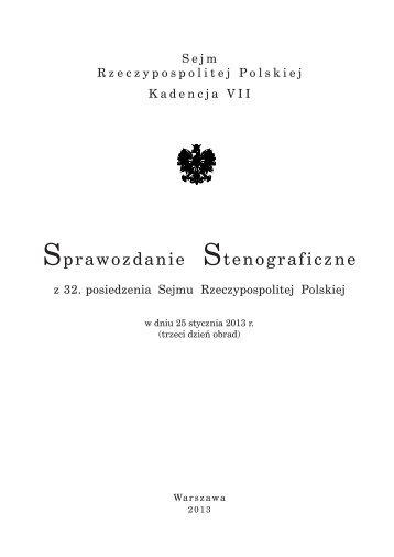 w dniu 25 stycznia - Sejm Rzeczypospolitej Polskiej
