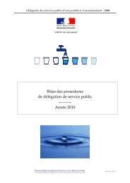 Bilan des procédures DSP 2010 suivies par la DDTM14