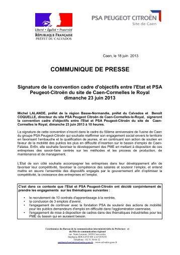 50 ans PSA 23062013 - Les services de l'État dans le Calvados