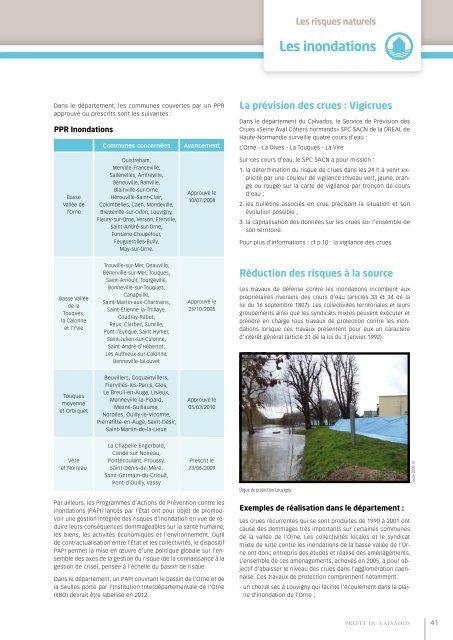 Les inondations - Les services de l'État dans le Calvados