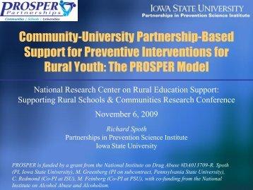 Community-University Partnership-Based Support for Preventive ...