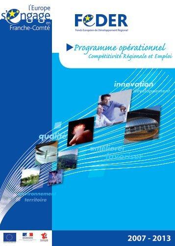 PO FEDER FRANCHE-COMTE.pdf - Europe en France, le portail ...