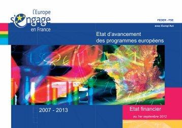 Etat d\'avancement_01-09-12.pdf - Europe en France, le portail des ...