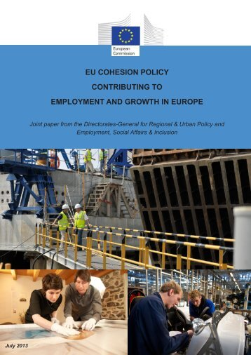 EU Cohesion Policy contributing to employment and growth in Europe