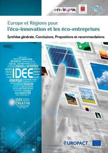 l'éco-innovation et les éco-entreprises - Europe en France, le portail ...