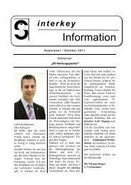 Information - interkey - Fachverband europäischer Sicherheits