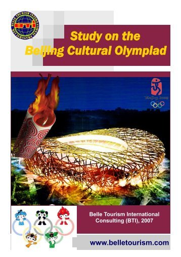 Study on the Beijing Cultural Olympiad - Belle Tourism International