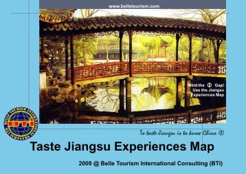 Taste Jiangsu Experiences Map - Belle Tourism International