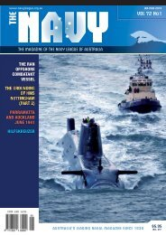 JAN-MAR 2010 VOL 72 No1 - Navy League of Australia