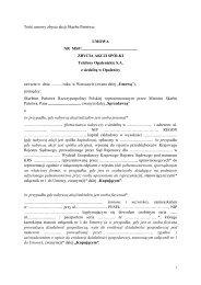 Telefony Opalenickie S.A. z siedzibą w Opalenicy - umowa ...