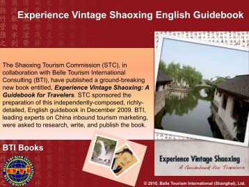 Experience Vintage Shaoxing English Guidebook - Belle Tourism ...