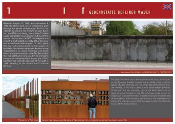 The Berlin Wall Memorial is a central memorial site in remembran ...