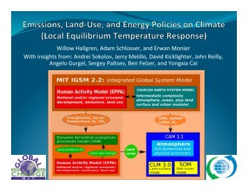 Emissions, land-use, and energy policies on climate