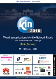 Berlin, Germany Weaving Applications into the Network Fabric - ICIN