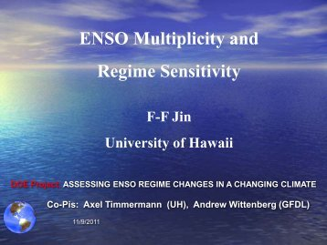 ENSO multiplicity and regime sensitivity