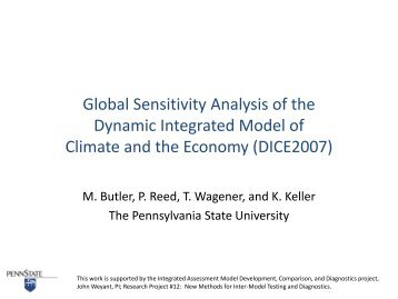 Global sensitivity analysis of the dynamic integrated model of ...