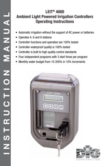 DIG LEIT 4000 Ambient Light Powered Controller ... - Irrigation Direct