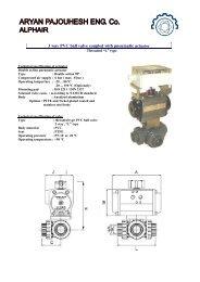 3 way PVC ball valve coupled with pneumatic actuator - Aryan ...