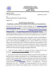 DIR Series - RBI Website - Reserve Bank of India