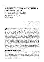 A política externa brasileira da democracia - SciELO