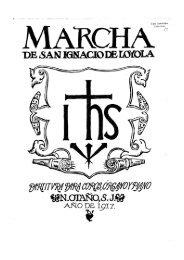 Partituras. Otaño. Marcha de san Ignacio. 6 v. - Schola Cantorum de ...