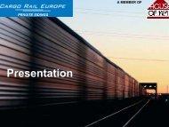 Presentation - Cargo Rail Europe
