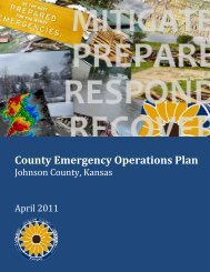 County Emergency Operations Plan - Johnson County