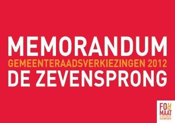 memorandum - Formaat