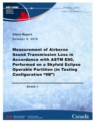 Measurement of Airborne Sound Transmission Loss in ... - Skyfold