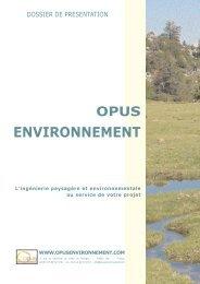 Dossier de présentation (PDF) - Opus Environnement