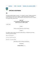 Odluka o III. izmjenama i dopunama Proračuna ... - Općina Kostrena